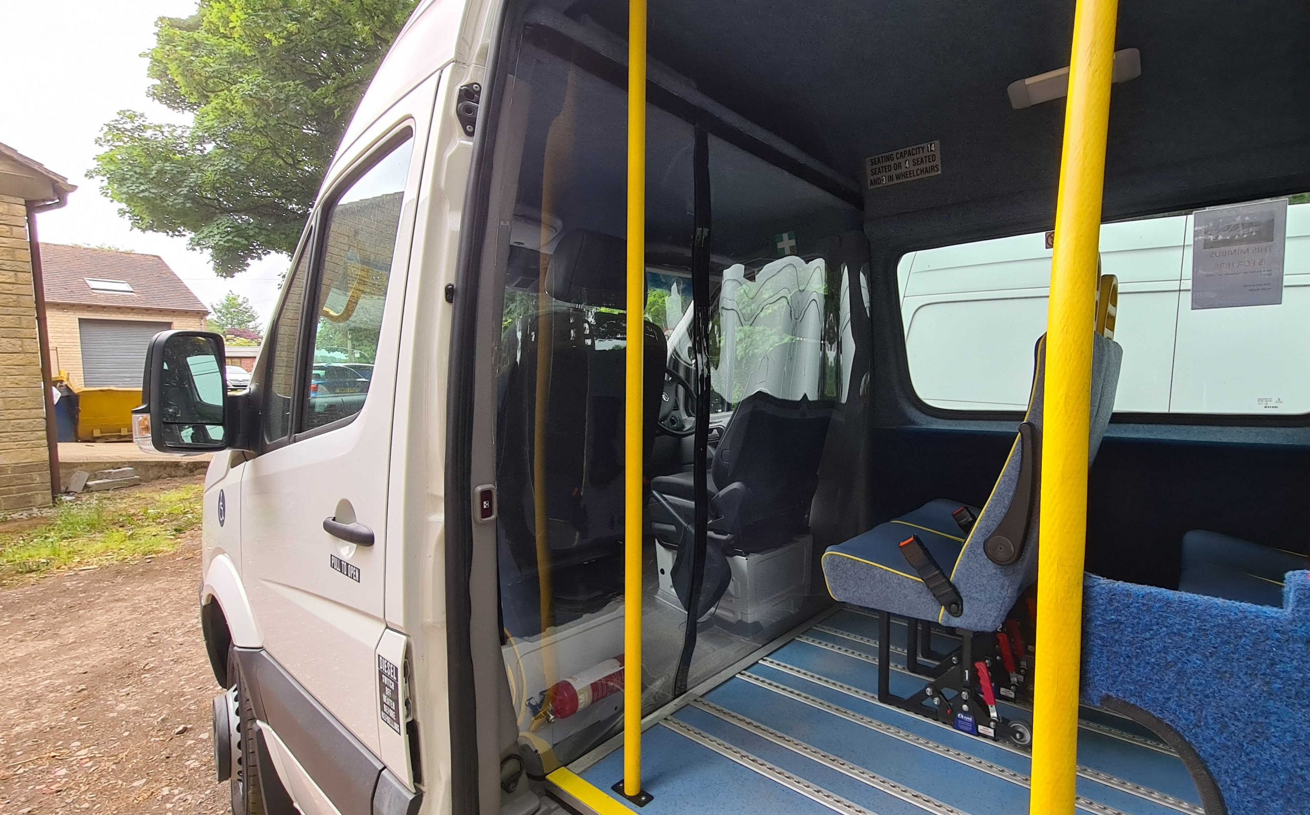 Pershore Volunteer Centres  minibus is now fitted with a protective screen ready to return to action in the next few weeks.